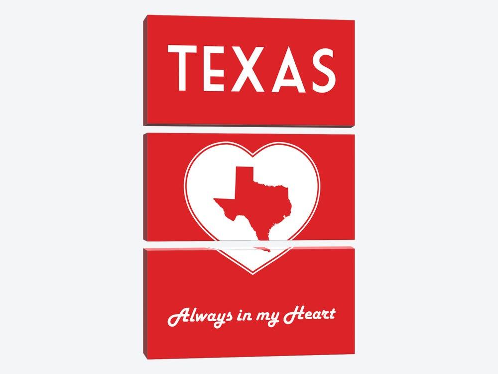 Texas - Always In My Heart by Benton Park Prints 3-piece Canvas Artwork