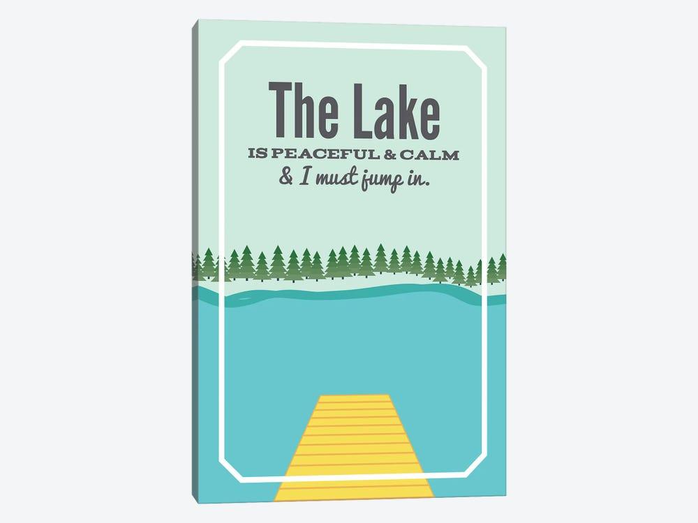 The Lake is Peaceful & Calm by Benton Park Prints 1-piece Art Print