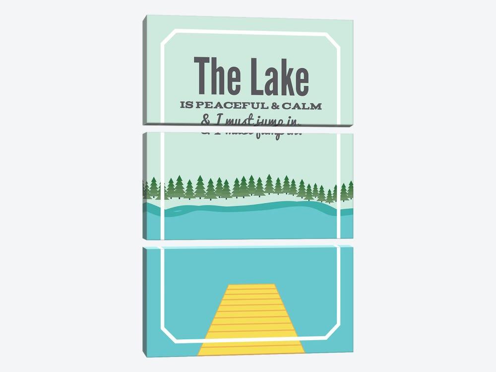 The Lake is Peaceful & Calm by Benton Park Prints 3-piece Art Print