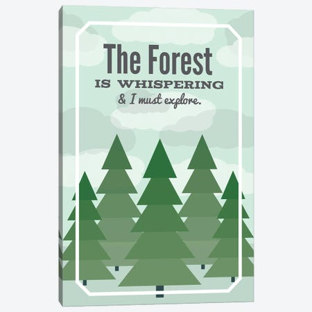 The Forest is Whispering Canvas Print #BPP317} by Benton Park Prints Canvas Art
