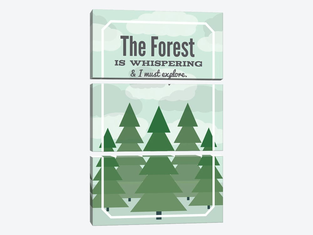 The Forest is Whispering by Benton Park Prints 3-piece Canvas Art Print