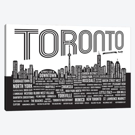 Toronto Neighborhoods Canvas Print #BPP318} by Benton Park Prints Canvas Art Print