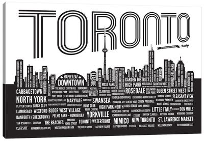 Toronto Neighborhoods Canvas Art Print