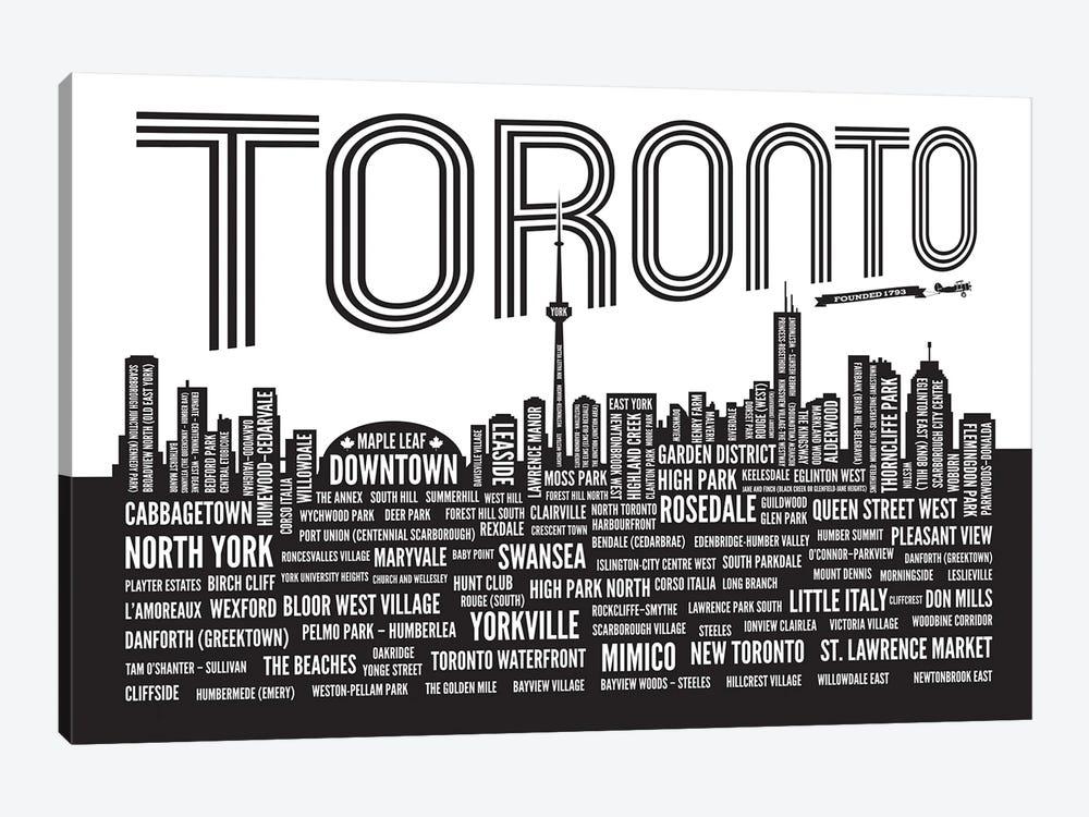 Toronto Neighborhoods by Benton Park Prints 1-piece Canvas Art