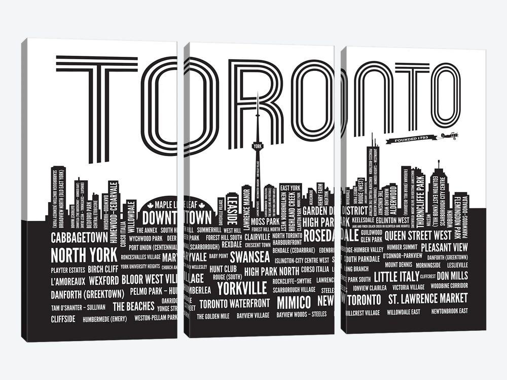 Toronto Neighborhoods by Benton Park Prints 3-piece Canvas Art
