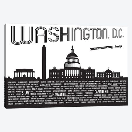 Washington DC Neighborhoods Canvas Print #BPP320} by Benton Park Prints Canvas Wall Art