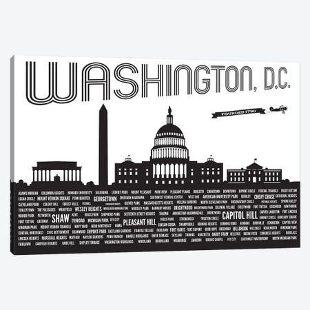 Washington DC Neighborhoods Canvas Print #BPP320} by Benton Park Prints Canvas Wall Art