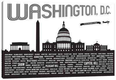 Washington DC Neighborhoods Canvas Art Print