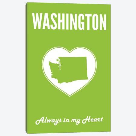 Washington - Always In My Heart Canvas Print #BPP323} by Benton Park Prints Canvas Art