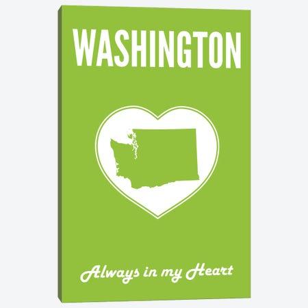 Washington - Always In My Heart Canvas Print #BPP323} by Benton Park Prints Canvas Art