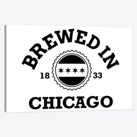 Brewed In Chicago Canvas Print #BPP329} by Benton Park Prints Canvas Artwork