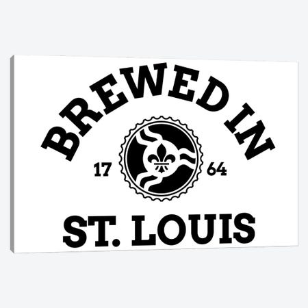 Brewed In St. Louis Canvas Print #BPP330} by Benton Park Prints Canvas Art Print