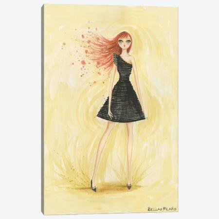 Little Black Dress June Canvas Print #BPR100} by Bella Pilar Canvas Print