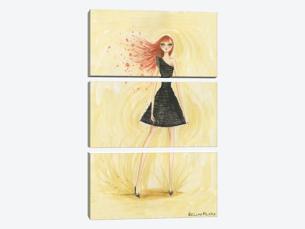 Little Black Dress June by Bella Pilar 3-piece Canvas Art