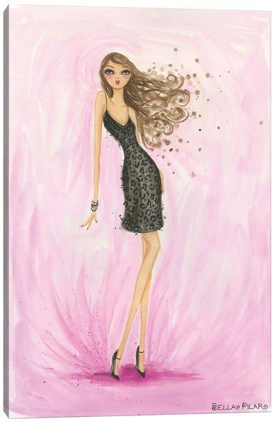 Little Black Dress Valentine Canvas Print #BPR101