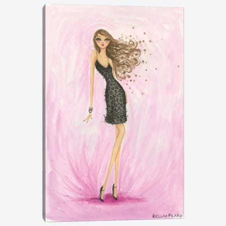 Little Black Dress Valentine Canvas Print #BPR101} by Bella Pilar Art Print