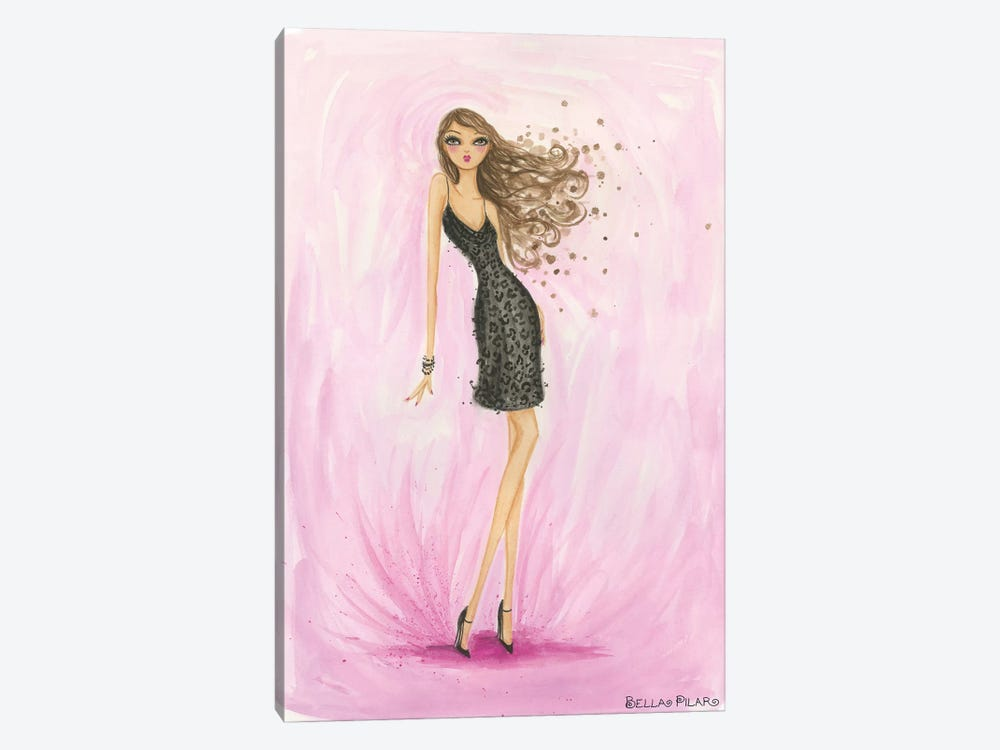 Little Black Dress Valentine by Bella Pilar 1-piece Canvas Art Print