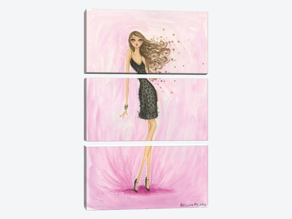 Little Black Dress Valentine by Bella Pilar 3-piece Canvas Print
