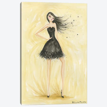 Little Black Dress Zoe Canvas Print #BPR102} by Bella Pilar Canvas Print