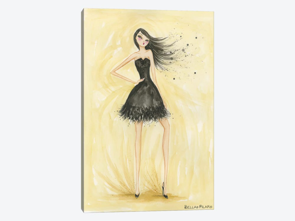 Little Black Dress Zoe by Bella Pilar 1-piece Canvas Artwork