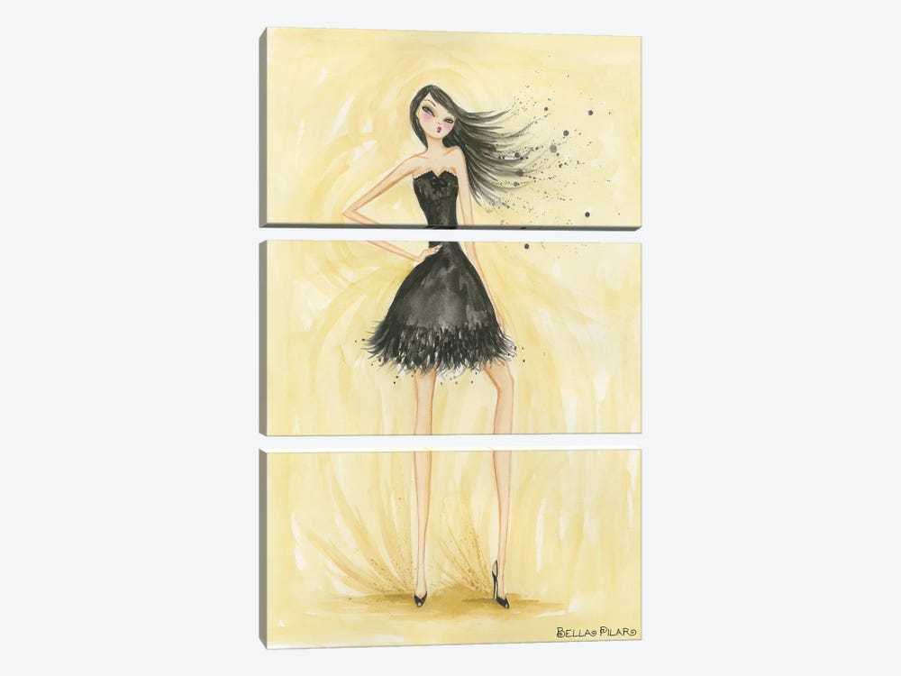 Little Black Dress Zoe by Bella Pilar 3-piece Canvas Artwork