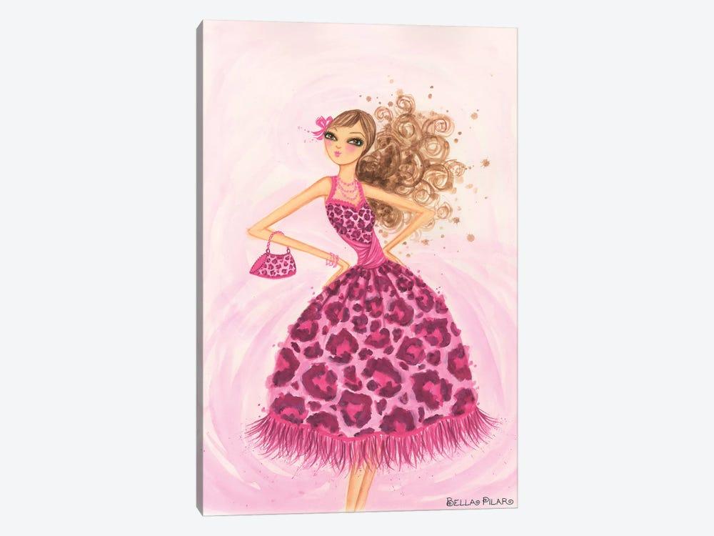 Pink Leopard Dress by Bella Pilar 1-piece Art Print