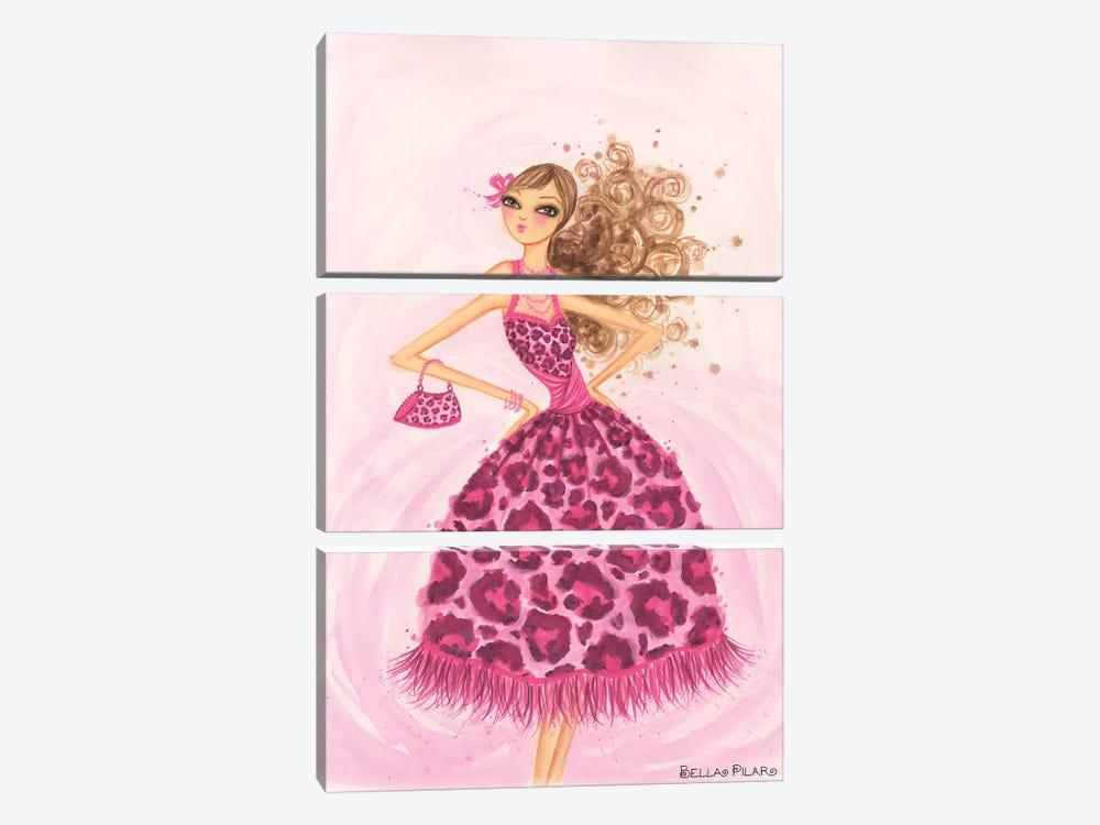 Pink Leopard Dress by Bella Pilar 3-piece Art Print