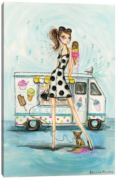 Seasons With Doggie: Fall Canvas Print #BPR106