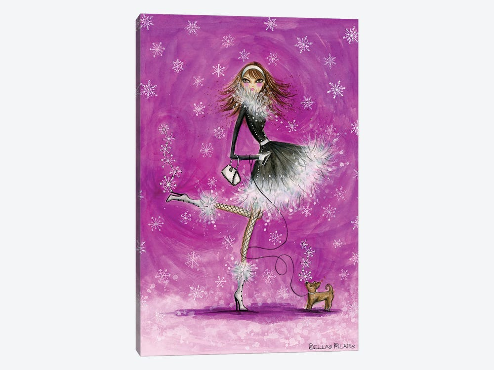 Seasons With Doggie: Winter by Bella Pilar 1-piece Art Print