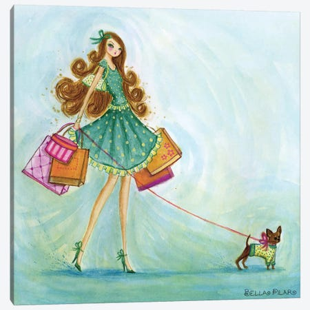 Shop Blue Canvas Print #BPR110} by Bella Pilar Canvas Art