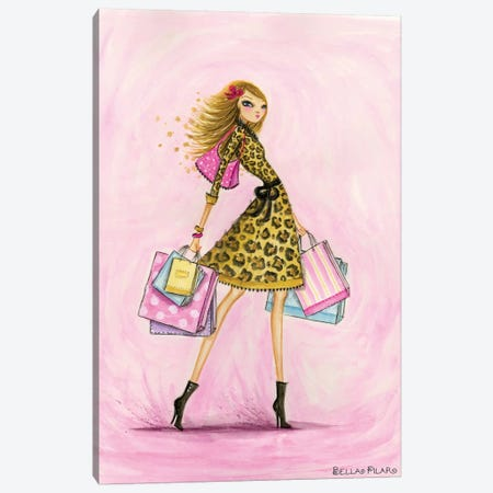 Spring Into Shopping See Me Shop Canvas Print #BPR121} by Bella Pilar Canvas Art Print
