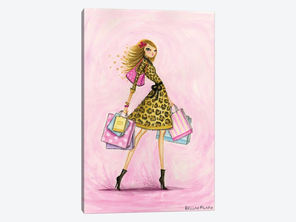 Spring Into Shopping See Me Shop by Bella Pilar 1-piece Canvas Art Print