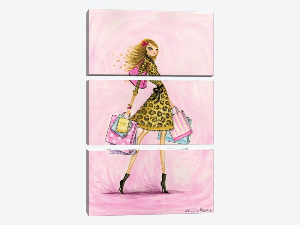 Spring Into Shopping See Me Shop by Bella Pilar 3-piece Canvas Art Print