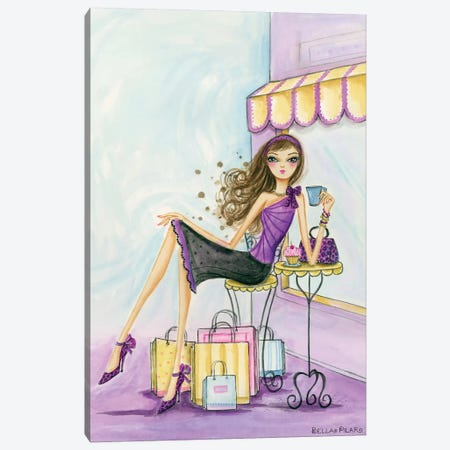 Spring Into Shopping Therapy 3-Piece Canvas #BPR123} by Bella Pilar Canvas Print