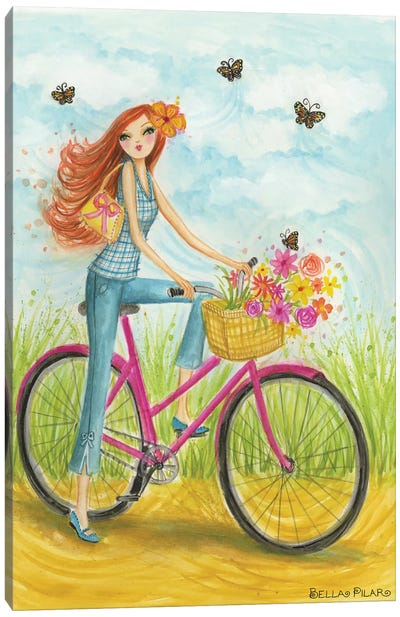 Sprung Bicycle Ride by Bella Pilar Canvas Art