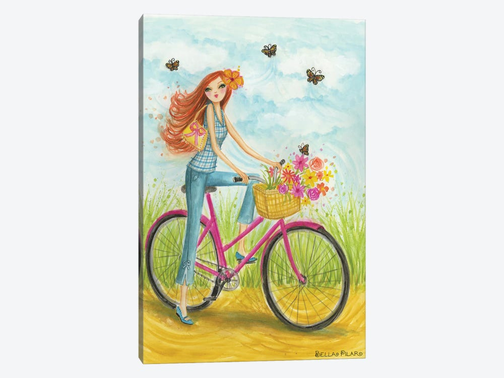 Sprung Bicycle Ride by Bella Pilar 1-piece Canvas Artwork