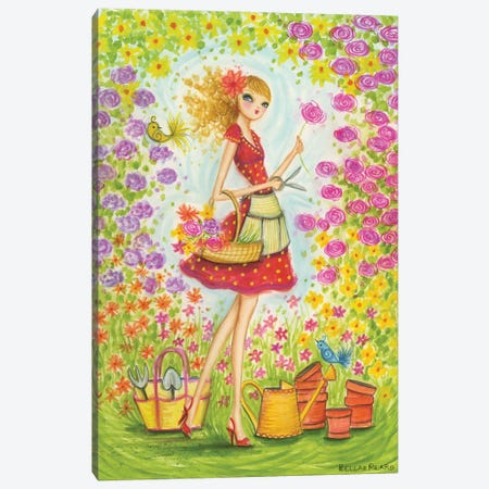 Sprung Gardener Canvas Print #BPR126} by Bella Pilar Canvas Art