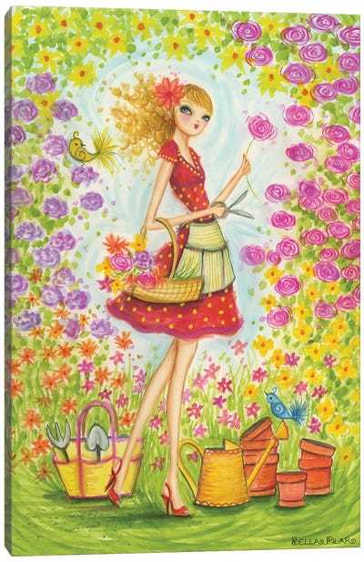 Sprung Gardener Canvas Art Print