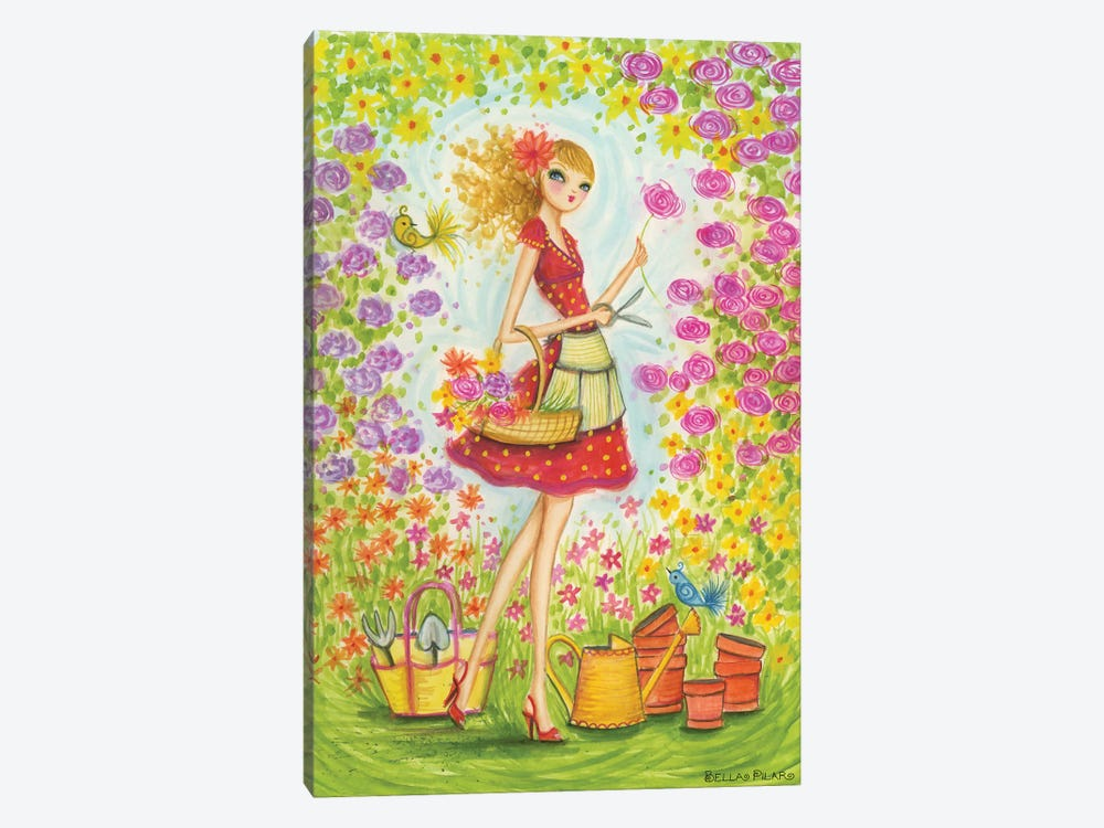 Sprung Gardener by Bella Pilar 1-piece Canvas Wall Art