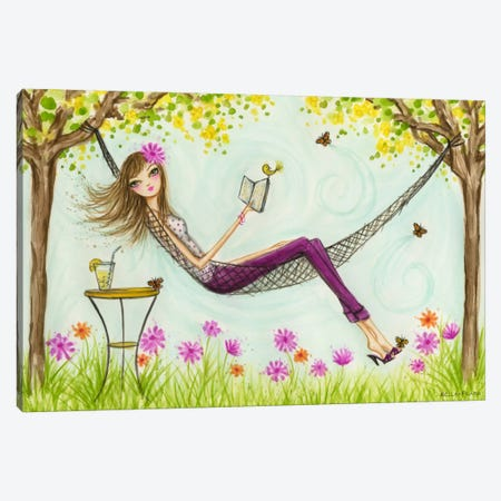 Sprung Hammock Canvas Print #BPR127} by Bella Pilar Canvas Wall Art