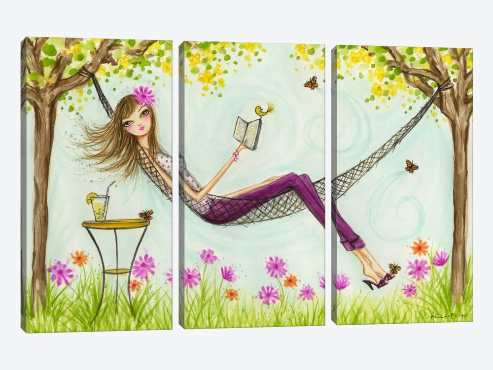 Sprung Hammock by Bella Pilar 3-piece Art Print
