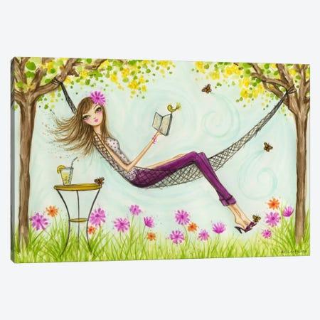 Sprung Hammock Canvas Print #BPR127} by Bella Pilar Canvas Wall Art