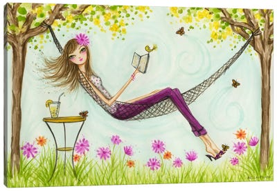 Sprung Hammock Canvas Art Print