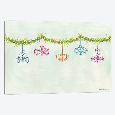 Tea Party Chandeliers Canvas Print #BPR131} by Bella Pilar Canvas Artwork
