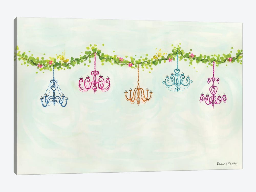 Tea Party Chandeliers by Bella Pilar 1-piece Canvas Wall Art