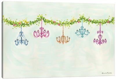 Tea Party Chandeliers Canvas Art Print