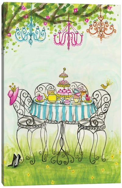 Tea Party Garden Tea Party by Bella Pilar Canvas Artwork