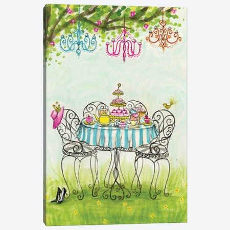 Tea Party Garden Tea Party Canvas Print #BPR132} by Bella Pilar Canvas Artwork