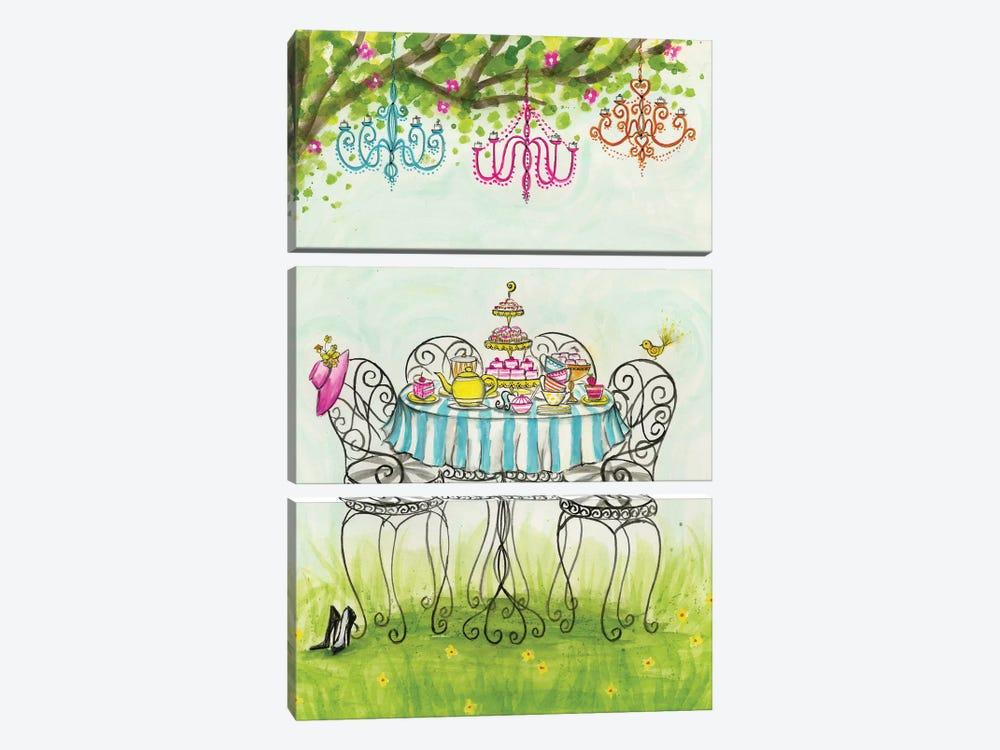 Tea Party Garden Tea Party by Bella Pilar 3-piece Canvas Art Print