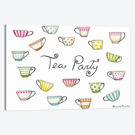 Tea Party Tea Cups Canvas Print #BPR133} by Bella Pilar Canvas Art